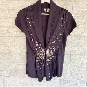 Anthro Moth Buttons cardigan